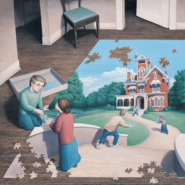 Rob Gonsalves Paintings - Unfinished Puzzle.