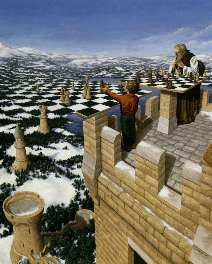 Rob Gonsalves Paintings - Chess Master.
