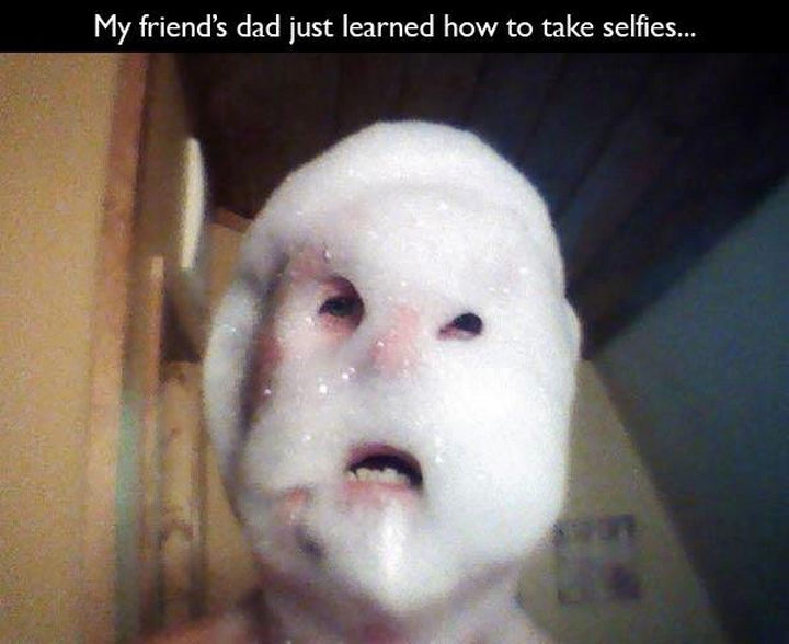 33 Trolling Parents - My friend's dad just learned how to take selfies...