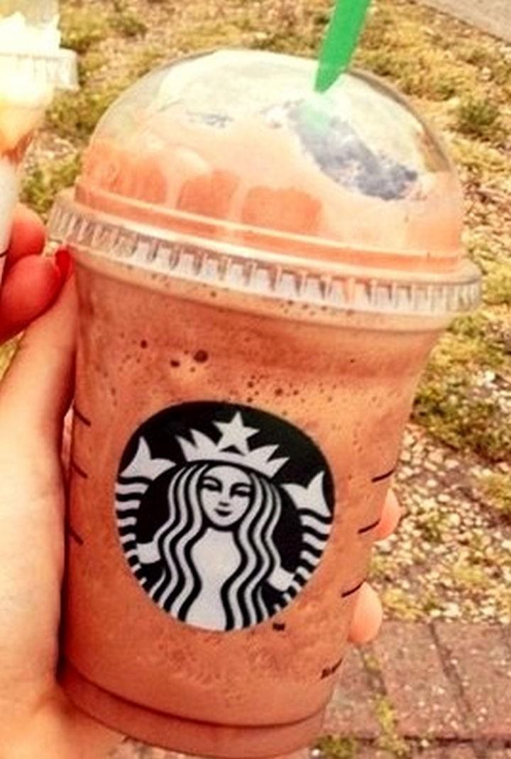 39 Starbucks Secret Menu Drinks - Chocolate Chip Cookie Dough Frappuccino recipe.