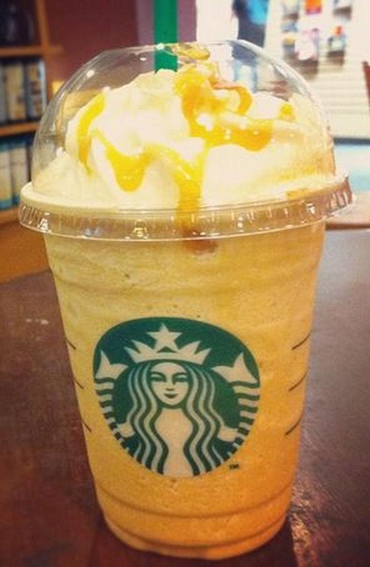 39 Starbucks Secret Menu Drinks - Orange Creamsicle Frappuccino recipe.