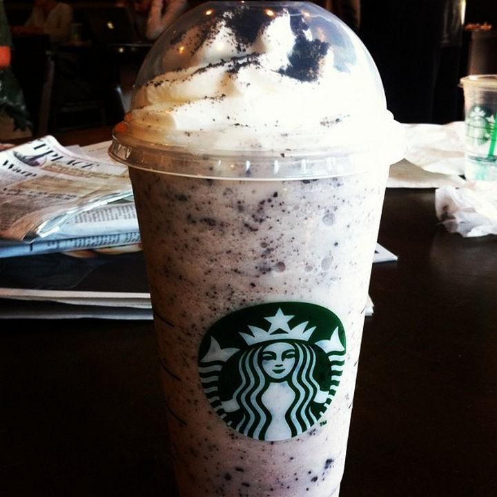 39 Starbucks Secret Menu Drinks - Oreo Frappuccino recipe.