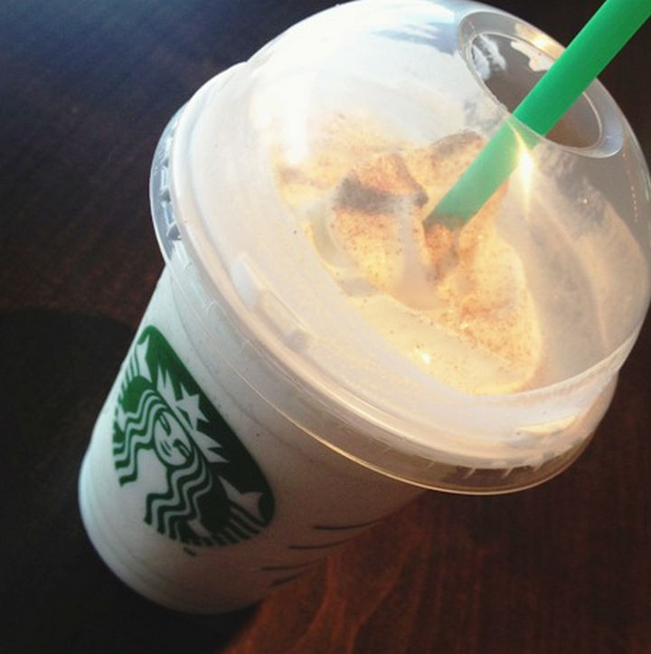 39 Starbucks Secret Menu Drinks - Peach Cobbler Frappuccino recipe.