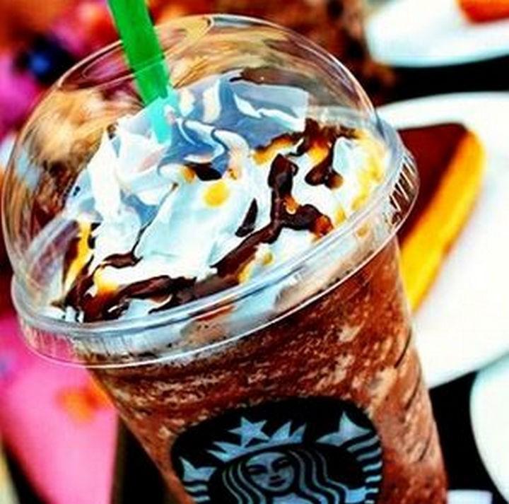 39 Starbucks Secret Menu Drinks - Turtles Frappuccino recipe.