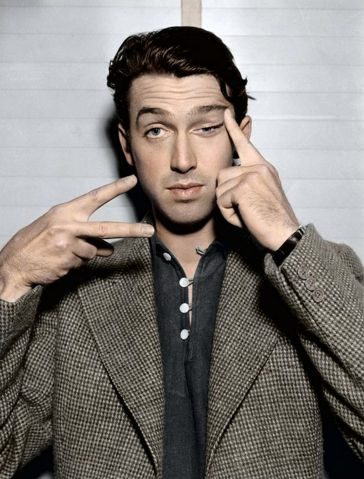 58 Colorized Photos from the Past - Brigadier General and actor Jimmy Stewart. Stewart flew 20 combat missions over Nazi-occupied Europe and even flew one mission during Vietnam.