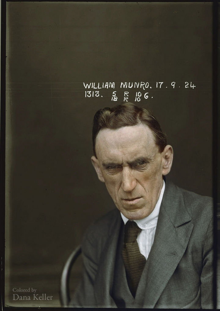 58 Colorized Photos from the Past - Australian mugshots from the New South Wales Police Dept in the 1920s.