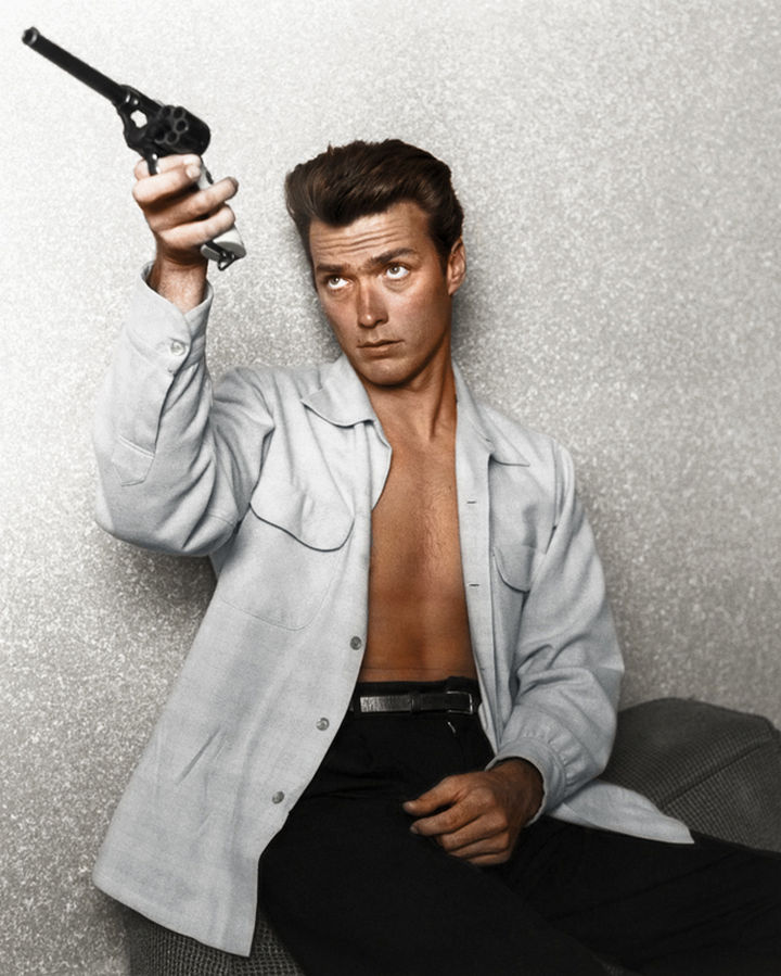 58 Colorized Photos from the Past - Clint Eastwood in 1962.