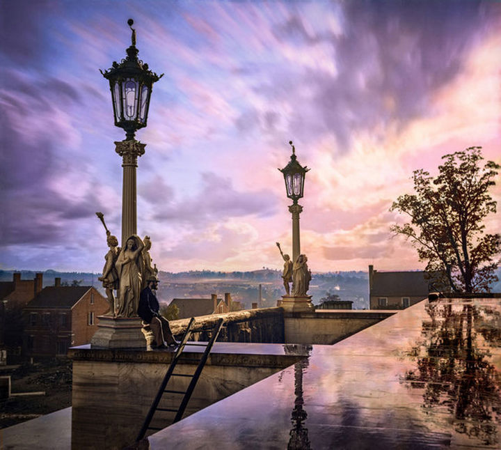 58 Colorized Photos from the Past - View from the Capitol in Nashville, Tennessee, during the Civil War, 1864.