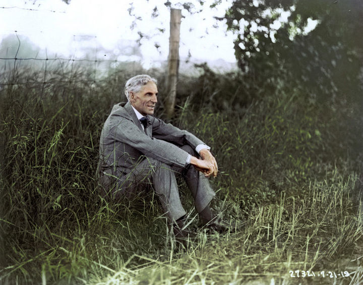 58 Colorized Photos from the Past - Henry Ford, 1919.