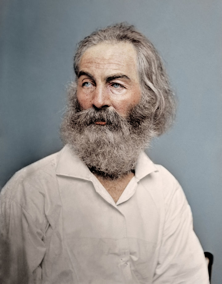 58 Colorized Photos from the Past - American Poet and essayist, Walt Whitman, 1868.