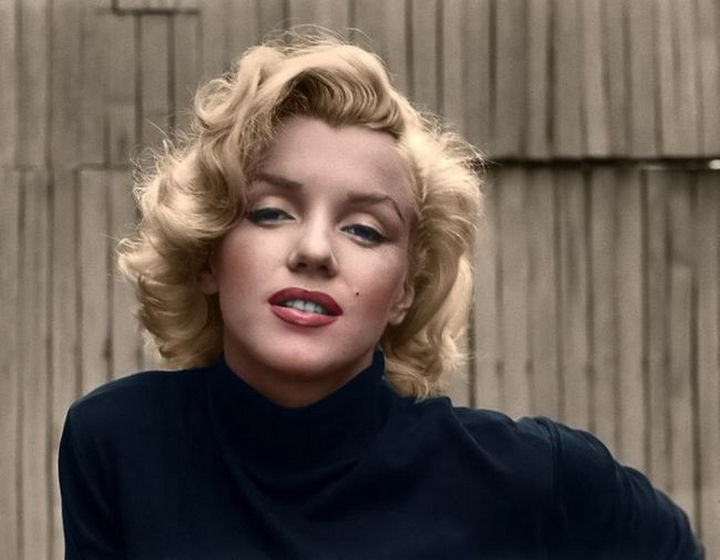58 Colorized Photos from the Past - Marilyn Monroe.