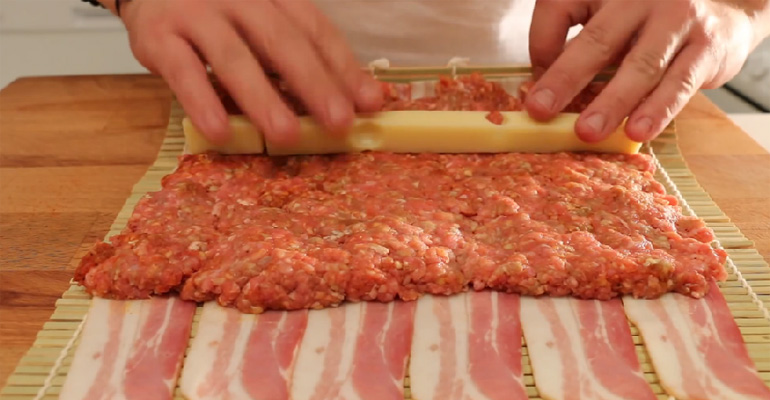 Bacon, Beef, and Cheese Rolled into the Ultimate BBQ Sushi.