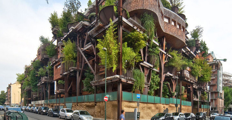 building in turin italy is possibly the biggest treehouse ever