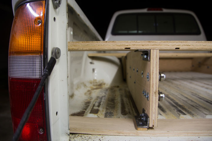 The frame is also bolted for easy removal.