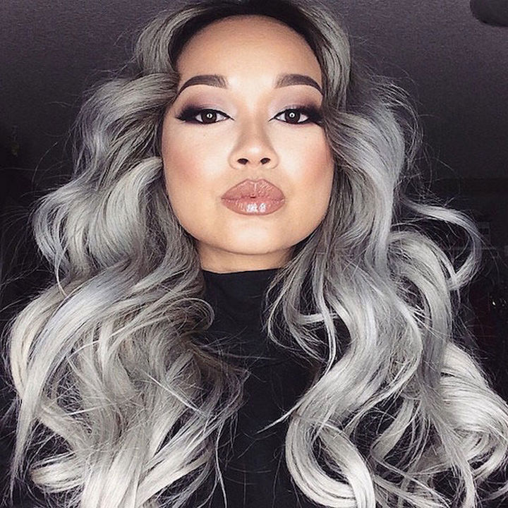'Granny hair' looks incredibly sexy and modern.