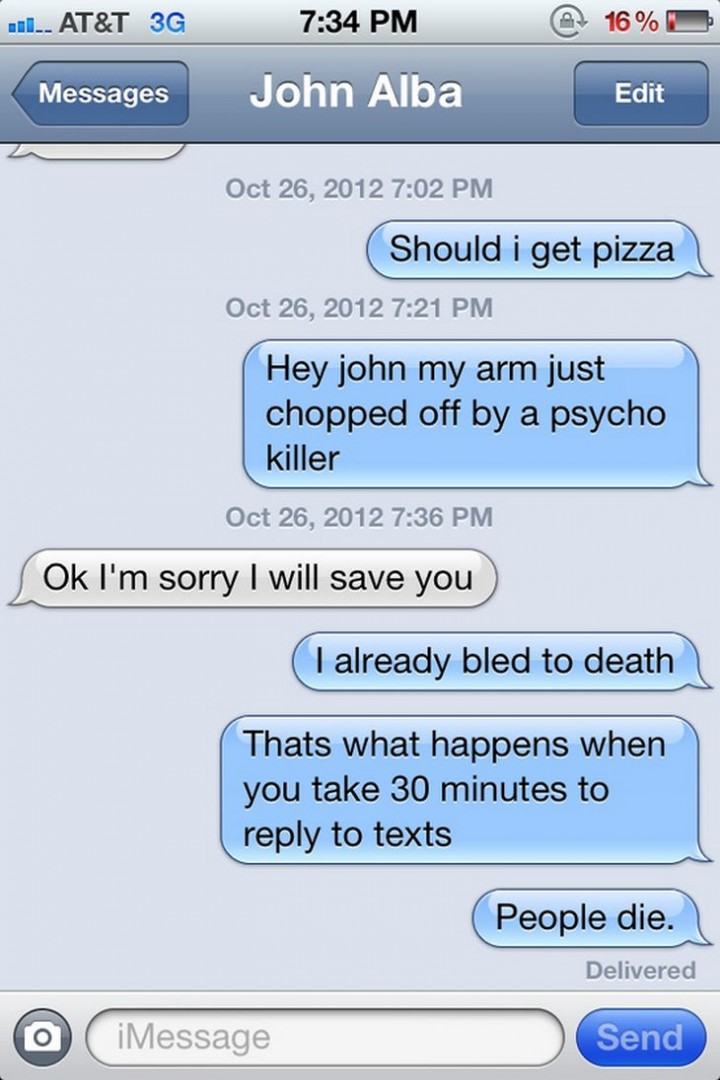 15 People With Ignored Text Messages When People Don't Text Back - And playing the guilt card doesn't work either.