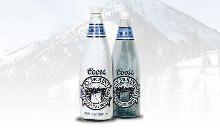 27 Failed Products - Coors Rocky Mountain Water.