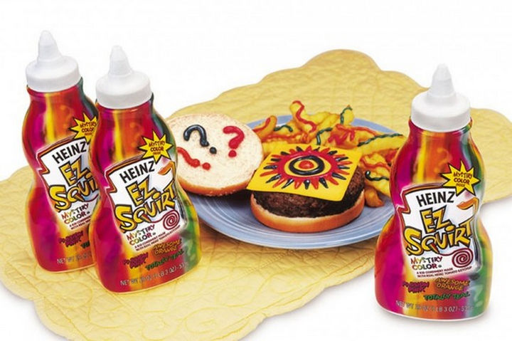 27 Failed Products - Heinz EZ Squirt Ketchup.