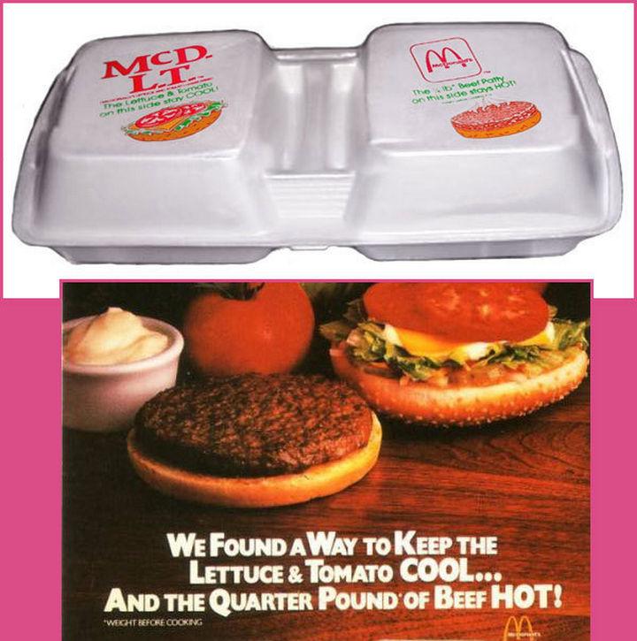 27 Failed Products - McDonald's McDLT.