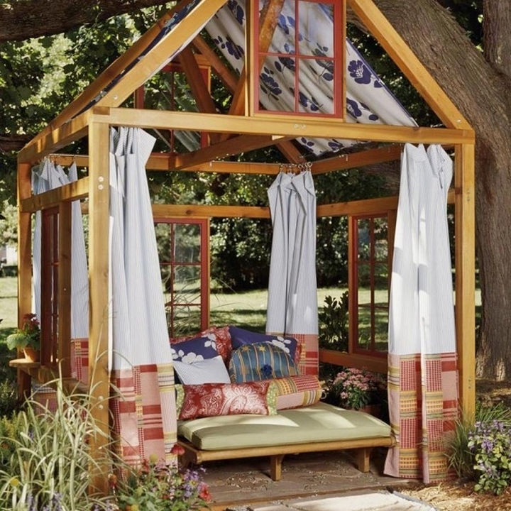 34 DIY Backyard Ideas for the Summer - Build a custom gazebo and get ready for compliments about how great it looks.