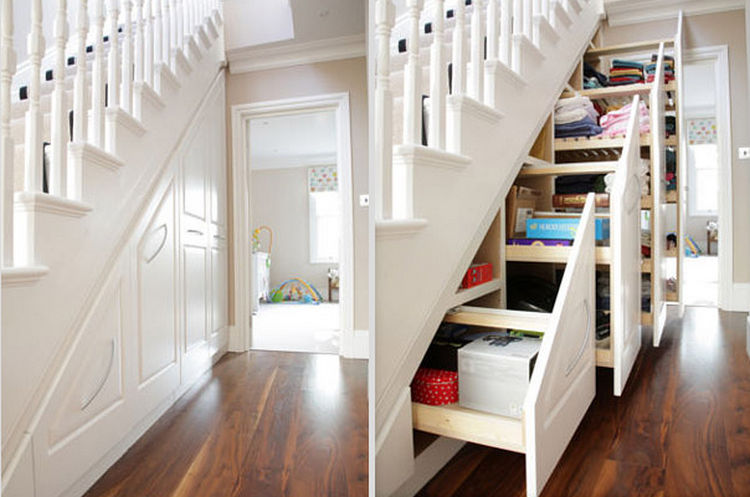 Superb Home Improvement Ideas Pictures Part - 4: Reclaim The Space Under Your Staircase And Build Drawers For Extra Storage  - 37 Home Improvement