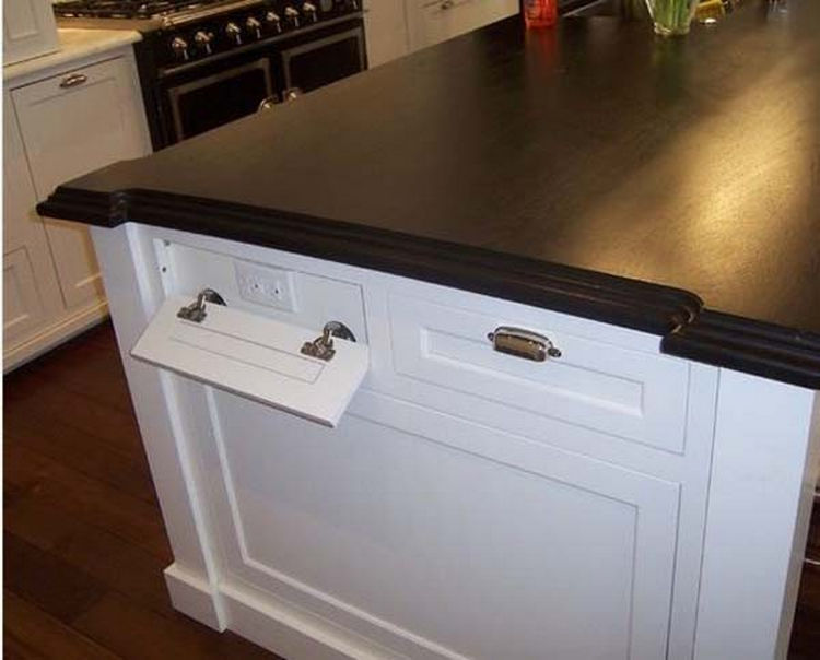 Turn A Fake Drawer Into Extra Electrical Outlets 37 Home Improvement Ideas