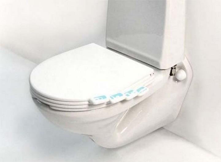Install a toilet seat where everyone has their own tab - 37 Home Improvement Ideas
