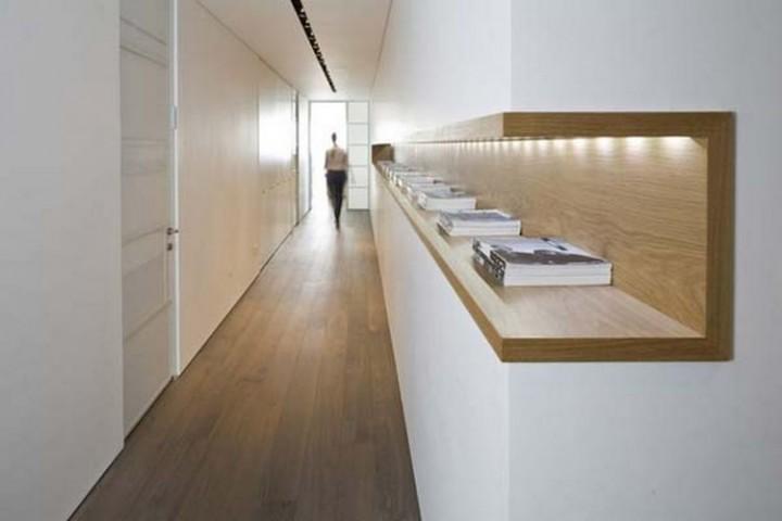 Add a cool lighted shelf along a wall - 37 Home Improvement Ideas