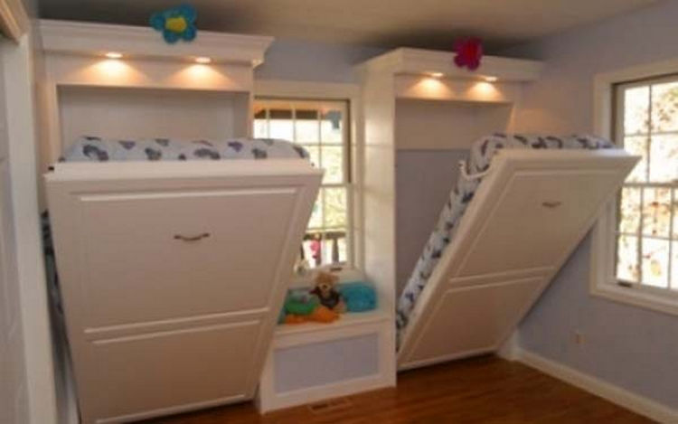Build Murphy wall beds instead of bunk beds for the kids - 37 Home Improvement Ideas