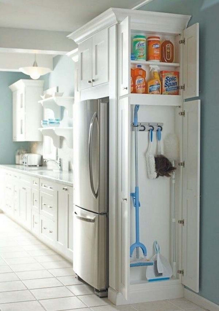 Install a small closet in the kitchen to store cleaning supplies   37 Home  Improvement Ideas. 37 Home Improvement Ideas to Maximize Your Living Space