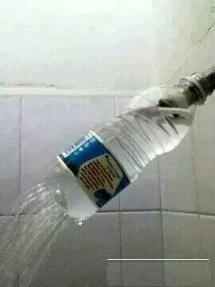 51 Crazy Life Hacks - No shower head? No problem.
