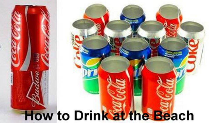 51 Crazy Life Hacks - How to drink at the beach.