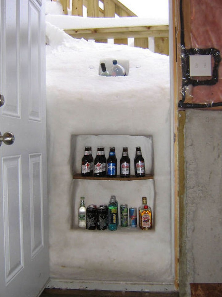 51 Crazy Life Hacks - That is one way to turn a record snowfall into something useful.