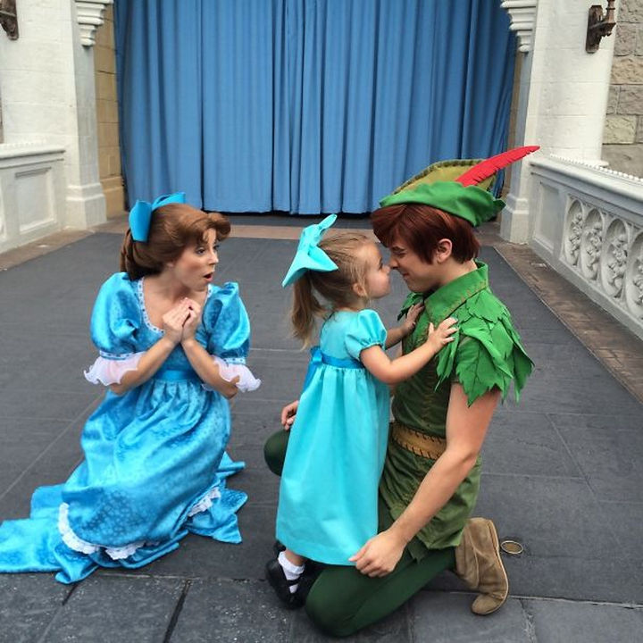 Wendy and Peter Pan costumes.