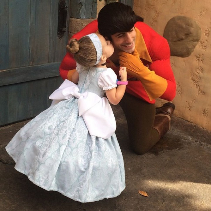 DIY Cinderella costume.