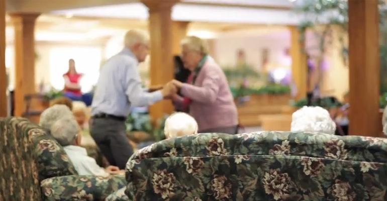 Piano Guys Perform Charlie Brown Song Medley at a Nursing Home.