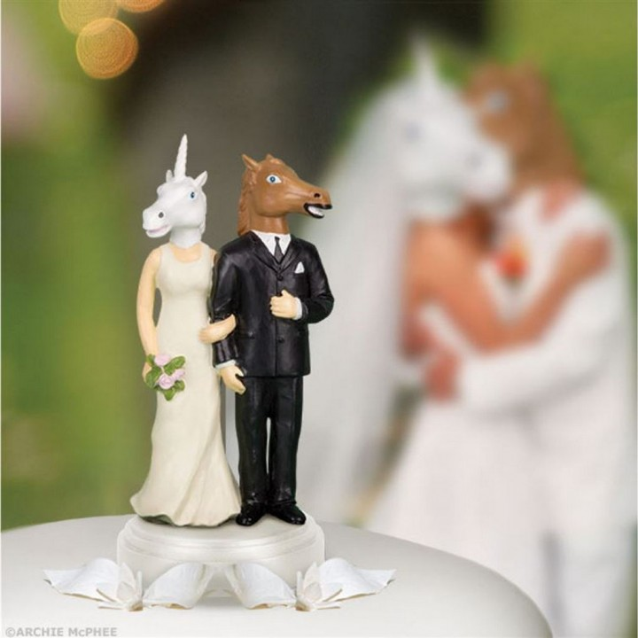 18 Funny Wedding Cake Toppers - The couple is in a 'stable' relationship.