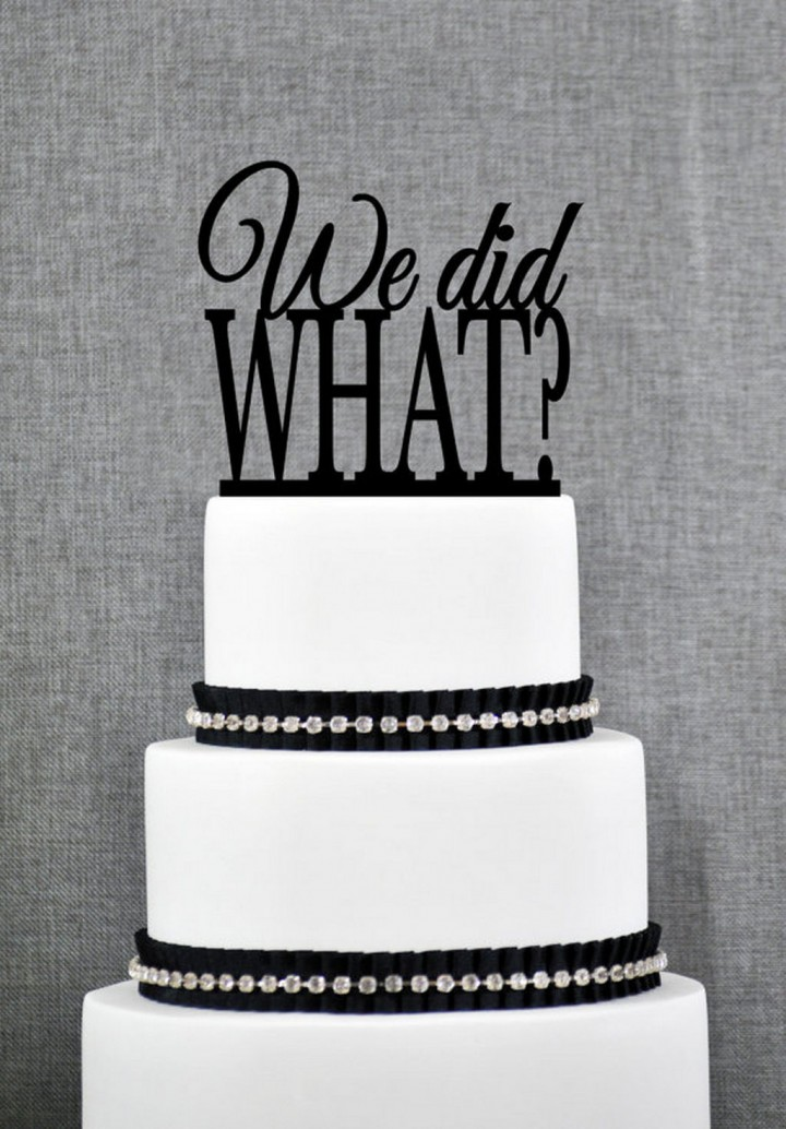 18 Funny Wedding Cake Toppers - It's now sinking in...