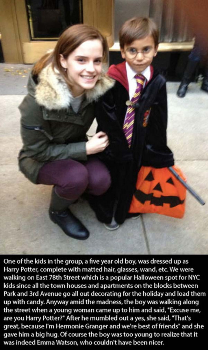 17 Celebrities Doing Random Acts of Kindness - Emma Watson.