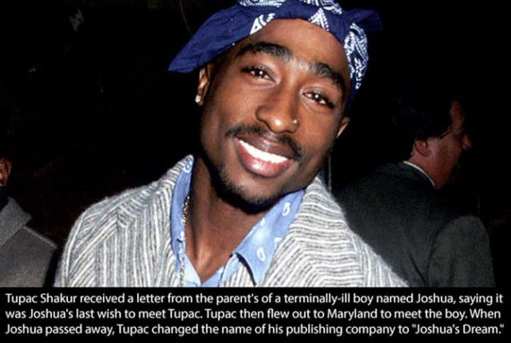 17 Celebrities Doing Random Acts of Kindness - Tupac Shakur.