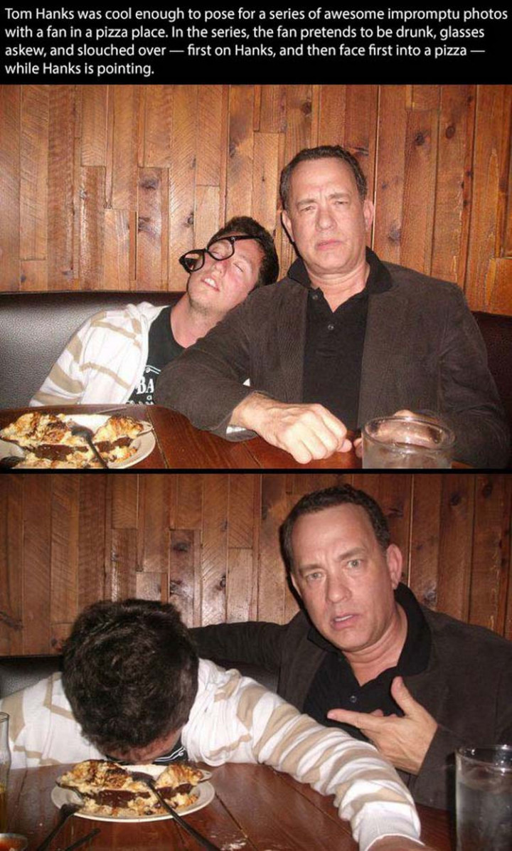 17 Celebrities Doing Random Acts of Kindness - Tom Hanks.