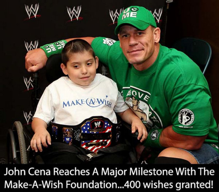 17 Celebrities Doing Random Acts of Kindness - John Cena.