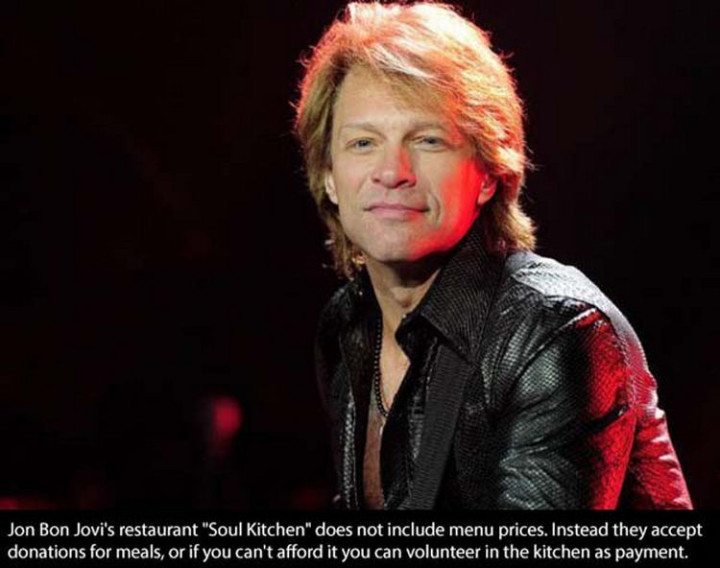 17 Celebrities Doing Random Acts of Kindness - Jon Bon Jovi.