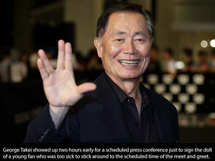 17 Celebrities Doing Random Acts of Kindness - George Takei.