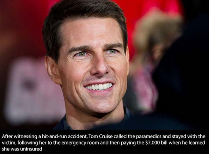 17 Celebrities Doing Random Acts of Kindness - Tom Cruise.