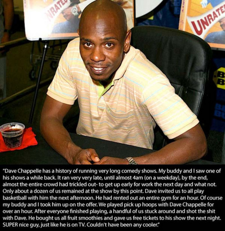 17 Celebrities Doing Random Acts of Kindness - Dave Chappelle.