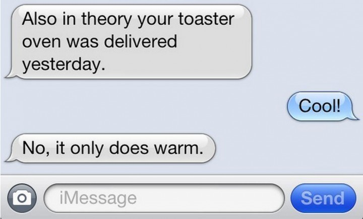 19 Funny Texts From Parents - Breaking it in.