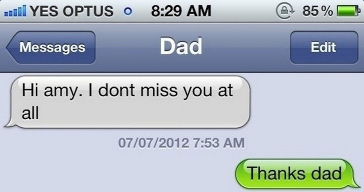 19 Funny Texts From Parents - Miss you.