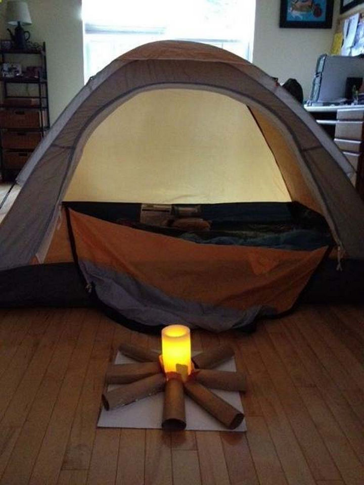 36 Summer Activities for Kids That Cost Less Than $10 - Bring the camping experience indoors.