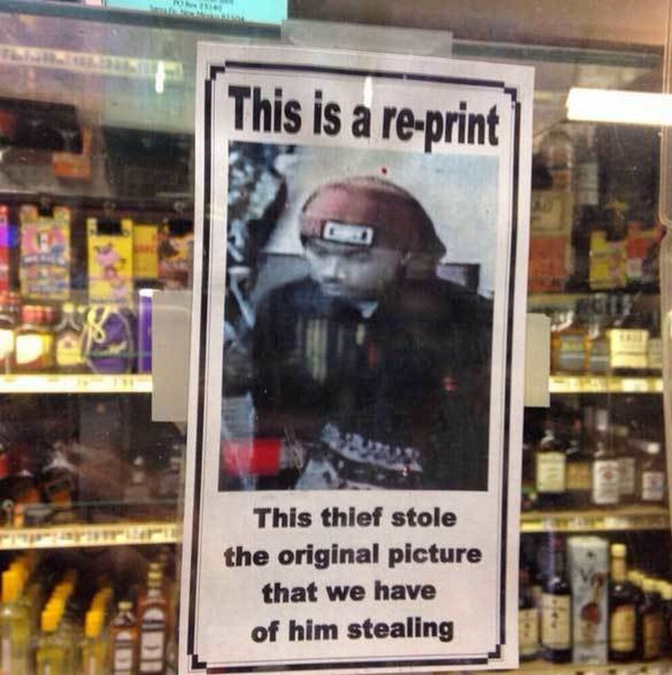 44 Incredibly Funny Pictures That Will Make You Smile - This thief doesn't want to stop.